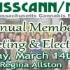 MassCANN/NORML Member Meeting & Annual Elections – Saturday March 14th Pizzaria Regina Allston