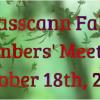 Fall Member's Meeting